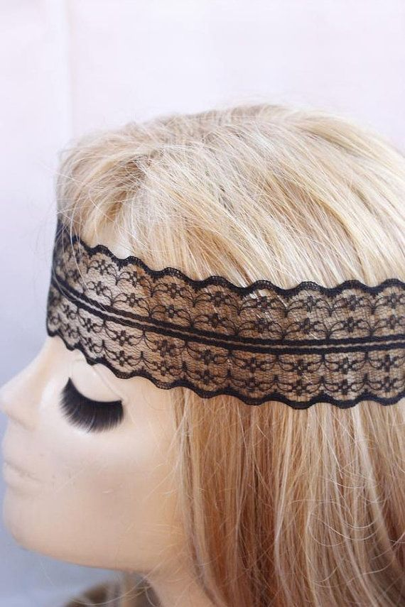 Check out this item in my Etsy shop https://www.etsy.com/listing/156524631/black-lace-headband-hippie-headband-hair