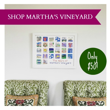 The ABC's of Martha's Vineyard from the Karyn Burns Limited Edition Minnies Collection. The PERFECT Vineyard holiday gift! Only 25 available, so shop now!