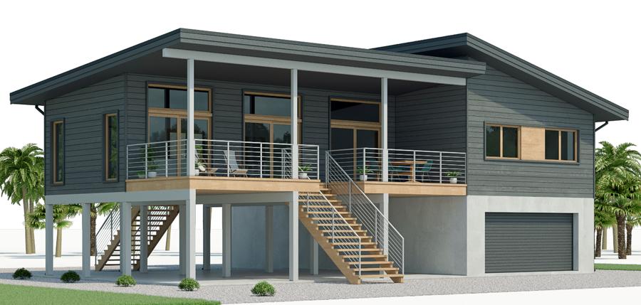 Beach house plan, coastal house plan, three bedrooms ...