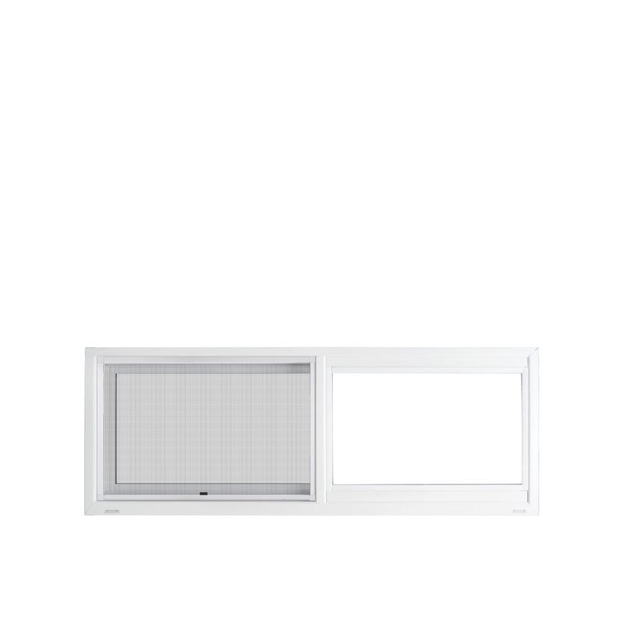Jeld Wen V 4500 35 5 In X 11 5 In Left Operable Vinyl New Construction White Sliding Window Lowes Com Sliding Windows Master Bath Remodel Cabin Interiors