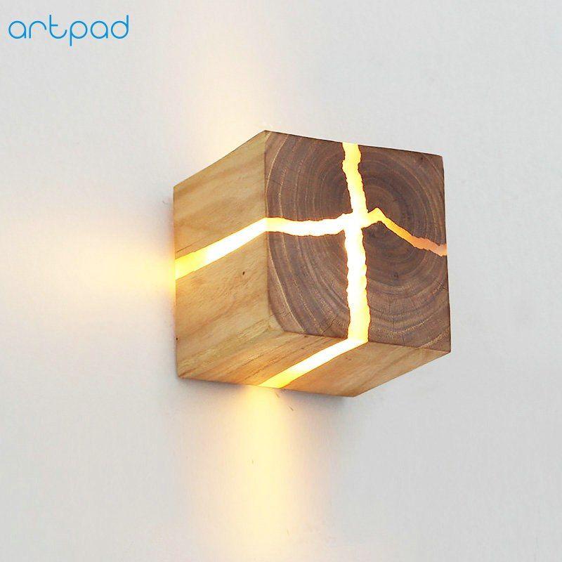 Pas cher Style japonais Art Décoration LED Mur Lampe De ...