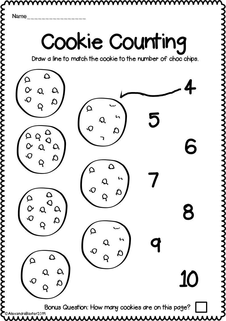 Counting to 10 Worksheets for Kindergarten Distance