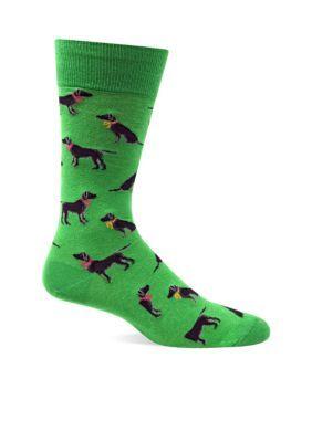 Hot Sox  Lab Dogs Crew Socks - Single Pair