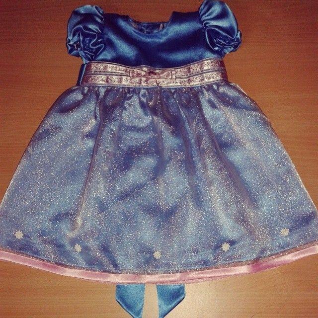 Baby Dress For Majlis Aqiqah, Cukur Jambul Dan Berendoi. Blue Turqoise  Satin And Pink