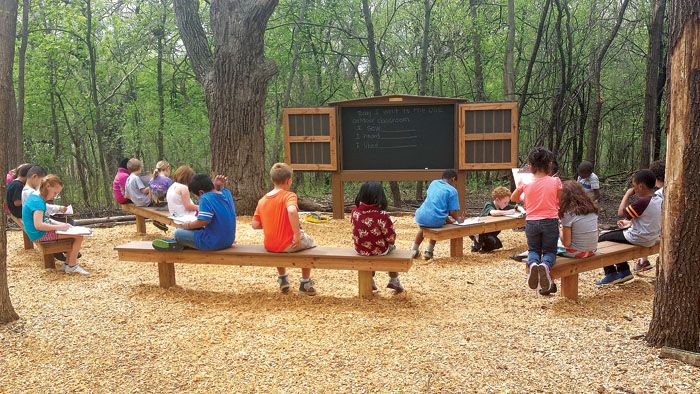 Outdoor Classroom Ideas Elementary School ~ Students at oak grove elementary in bloomington enjoy an