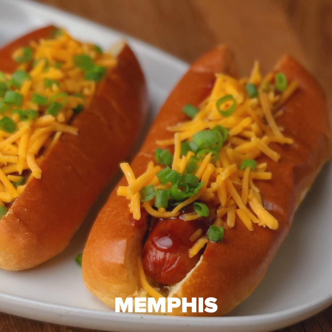 memphis dog recipe by tasty recipe hot dog recipes hot dogs dog recipes pinterest