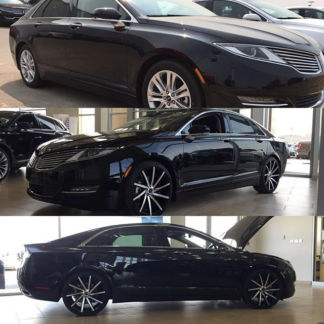Before And After Of This Lincoln Mkz Simple And Effective Added Tinted Windows And 20 Strada Sega Wheels Black With Lincoln Mkz Lincoln 2017 Tinted Windows