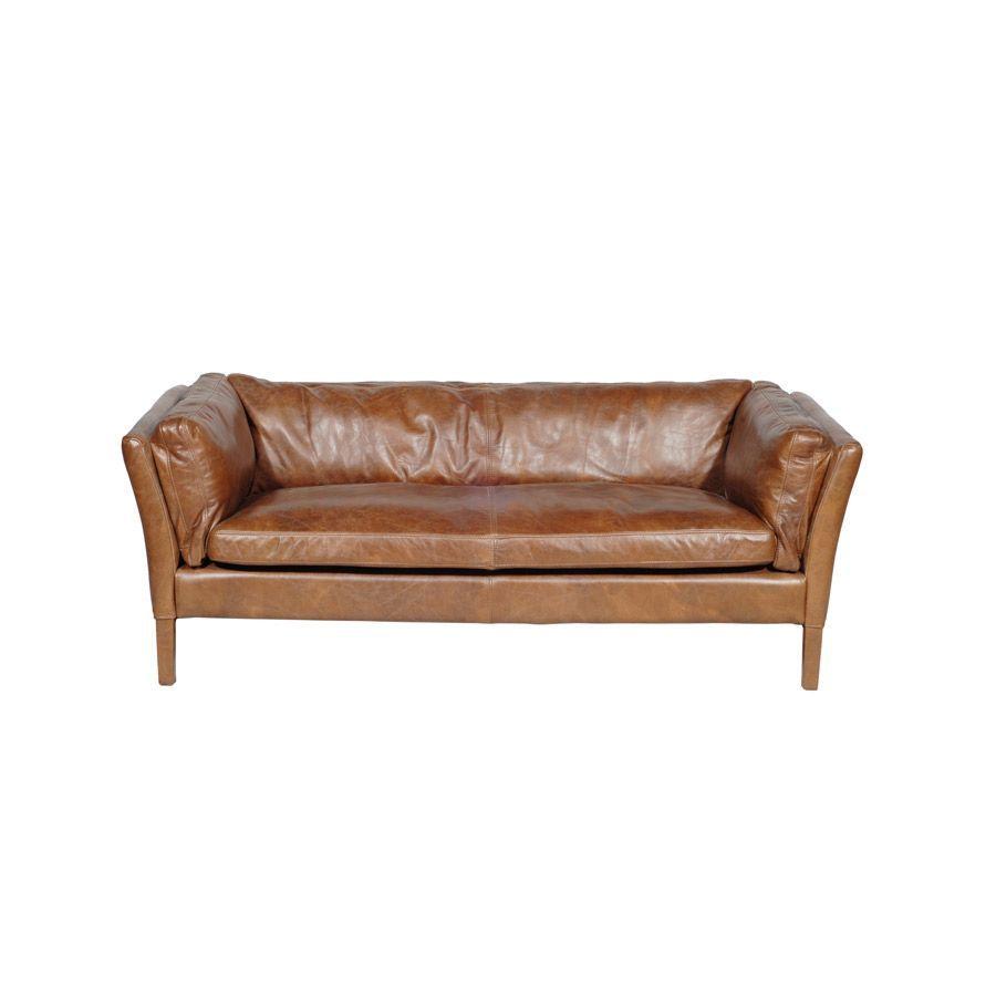 Patio Furniture Lynnwood Wa: Canapé En Cuir Marron Clair 3 Places - Seattle