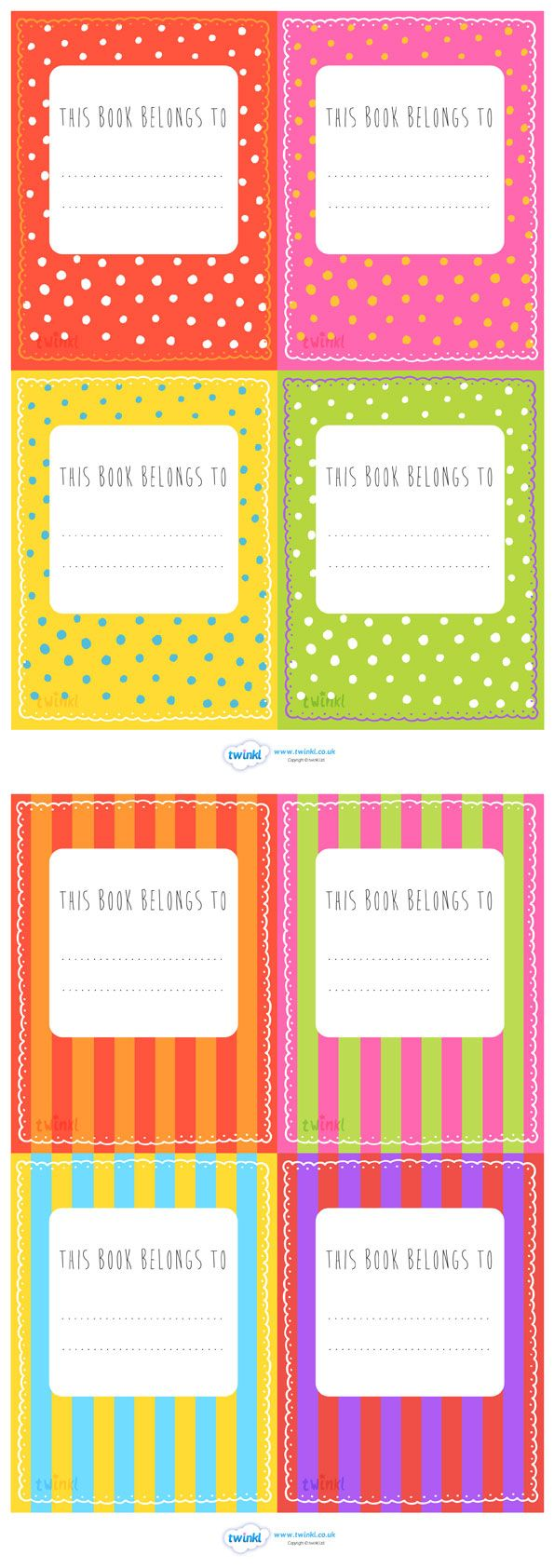 Patterned This Book Belongs To Labels Book Labels Teaching Resources Primary Labels