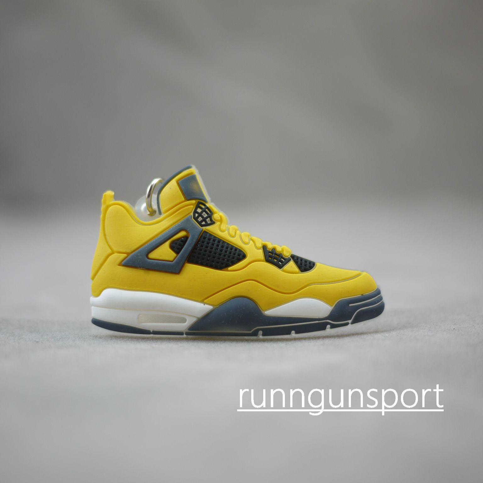 online store 13b6e dc3f9 ... Air Jordan IV (4) LIGHTNING THUNDER YELLOW Key Chain ...