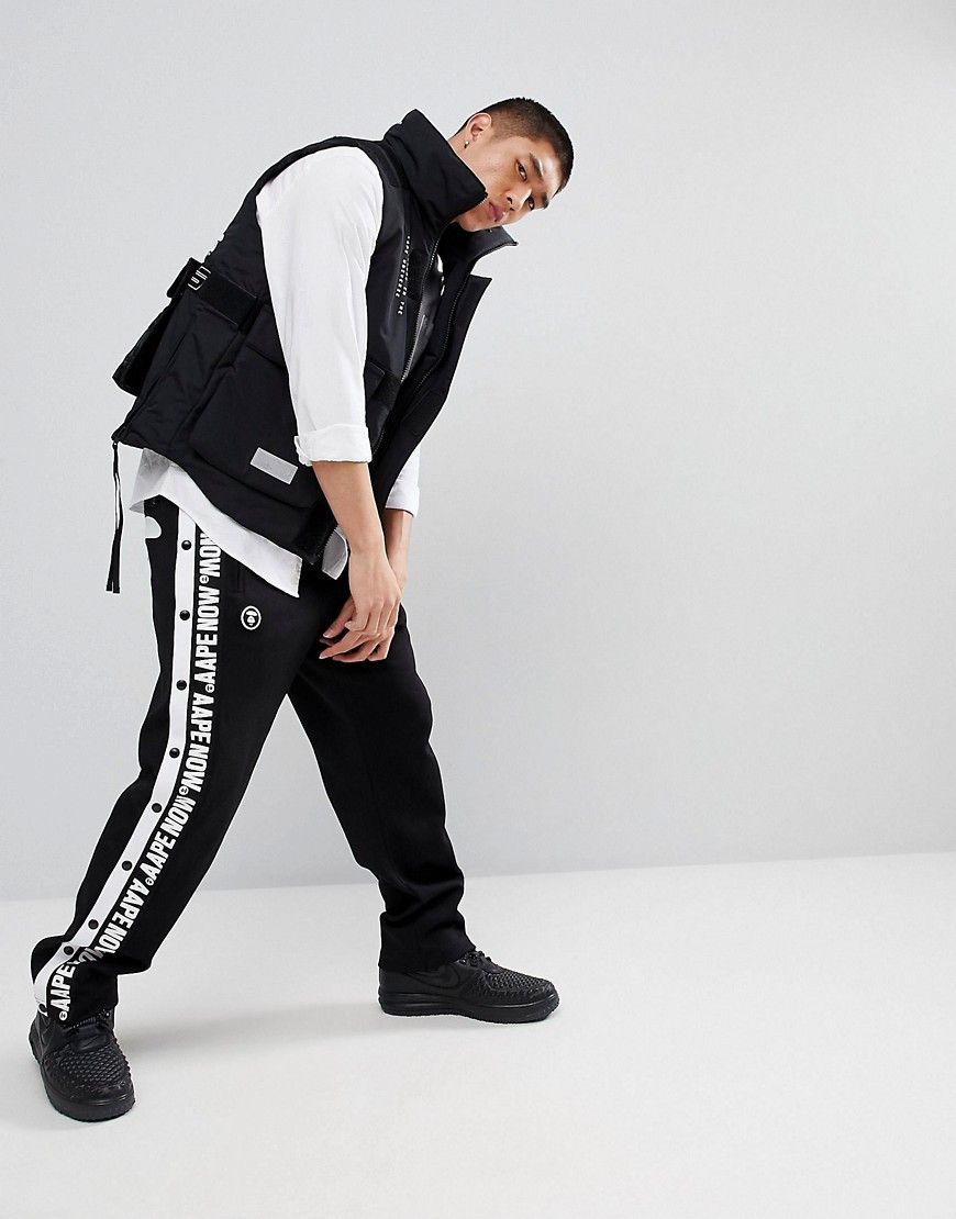 a4a5e6f4 AAPE By A Bathing Ape Popper Joggers With Taping | Products | A ...