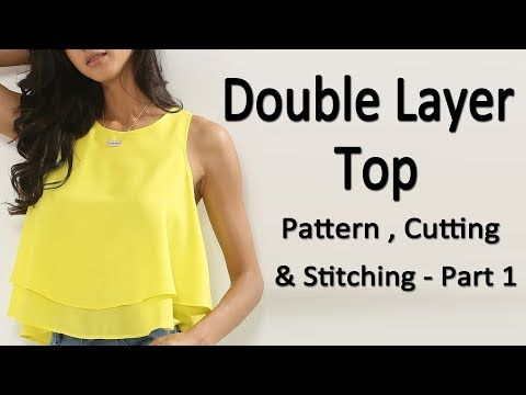 a0c48d824ec2fb DIY crop top with cold sleeves  off shoulder cutting and stitching full  tutorial - YouTube