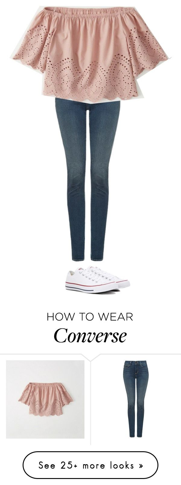 """""""Untitled #2529"""" by laurenatria11 on Polyvore featuring NYDJ, Abercrombie & Fitch and Converse"""