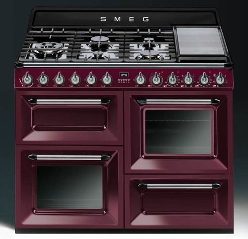 piano de cuisson smeg victoria tr4110 bordeaux | cuisine t