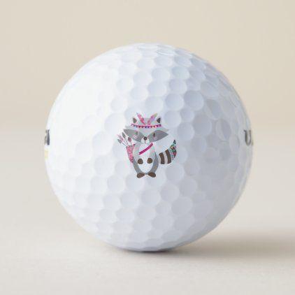 Cute Tribal Racoon Golf Balls