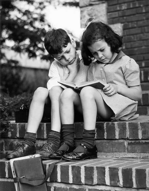 Children reading. George Marks 1950   Girl reading, Girl reading book, Kids  reading books