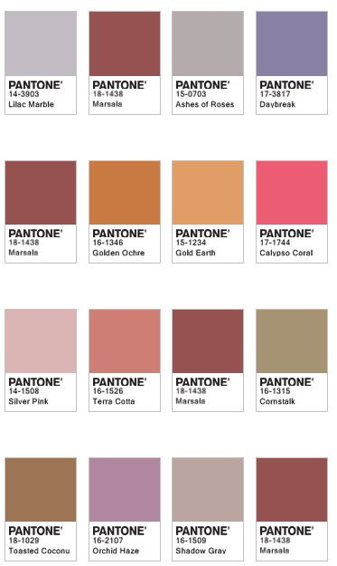 Marsala Color Pairings Whether In A Flat Or Textured Material Or With A Matte Or Gloss Finish This Highly Variet Couleur De L Annee Nuancier Camaieu Couleur