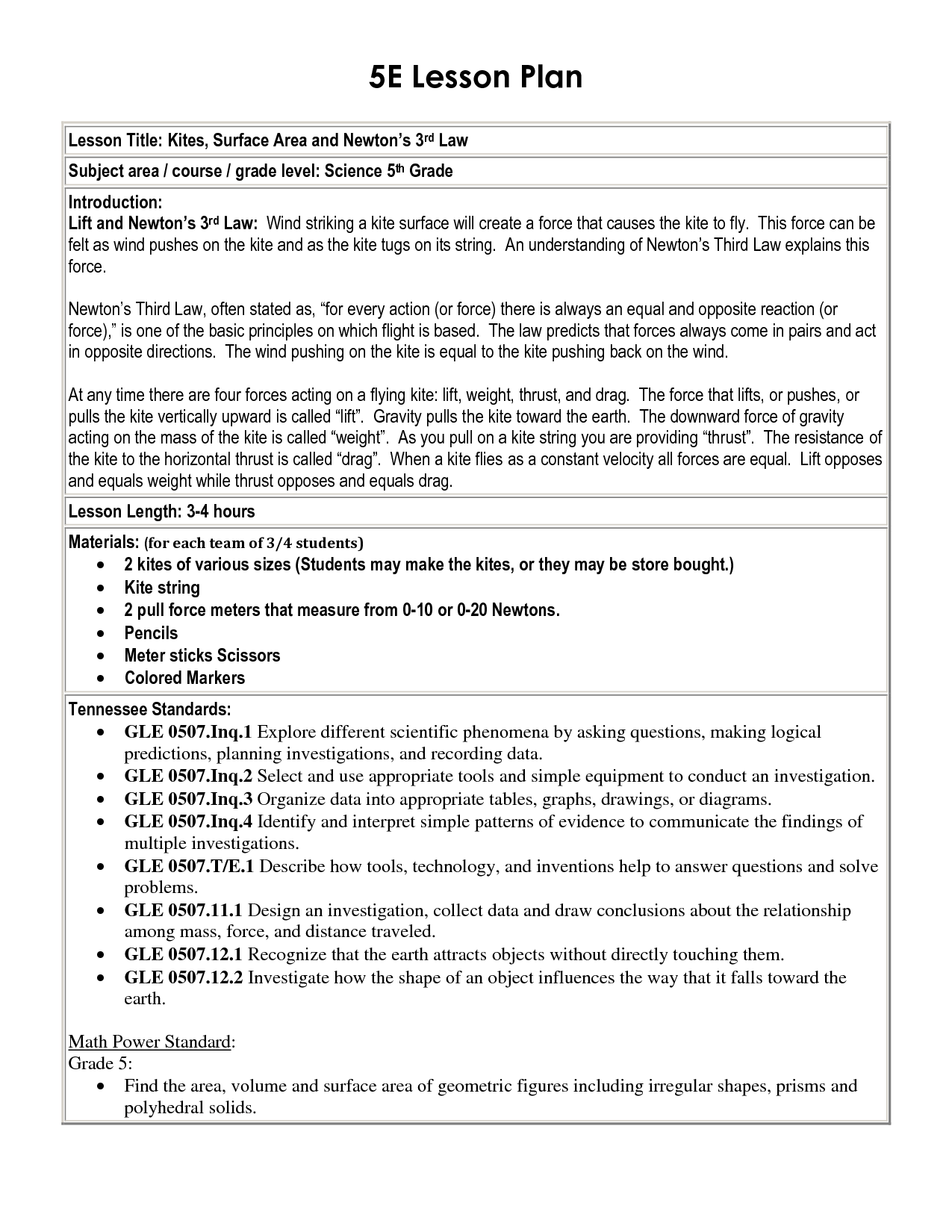 worksheet States Of Matter Worksheet High School 5 e lesson plan template 5e school template