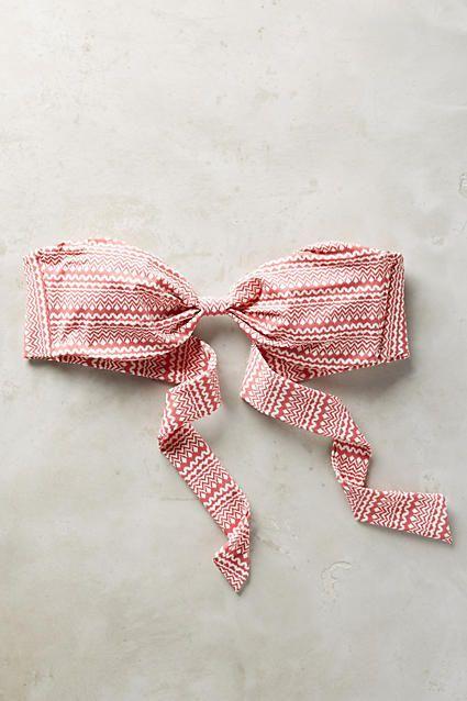 Eberjey Ariel Bandeau Top Rose Swimwear #anthrofave