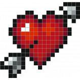 Pixel Art Coeur I Love You
