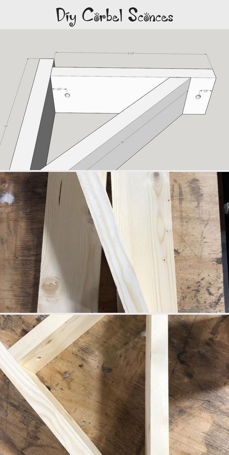 Diy Corbel Sconces With Free Plans How To Make Corbel Wall Sconce For Under 25 Diy Bedroom Lighting In 2020 Diy Farmhouse Decor Bedroom Lighting Diy Diy Coat Rack