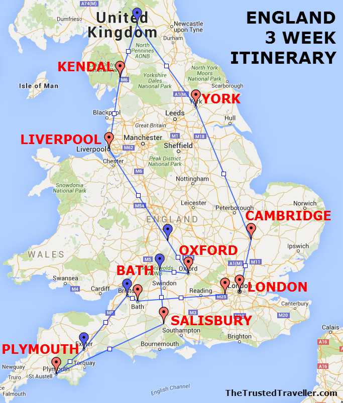 Map Of England Europe.See The Best Of England A Three Week Itinerary Europe Travel