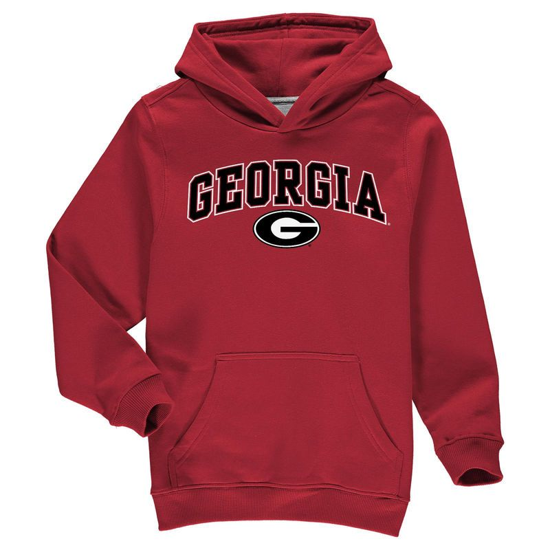 Georgia Bulldogs Fanatics Branded Youth Campus Pullover Hoodie - Red