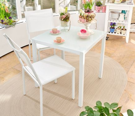 Zahara Blanco Outdoor Furniture Sets Furniture Dining Chairs