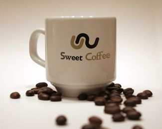 Sweet Coffee Logo design - Good logo and name for the coffee restaurant or coffee machine, etc... Thank you. Price $250.00 http://www.brandcrowd.com/logo-design/details/14823