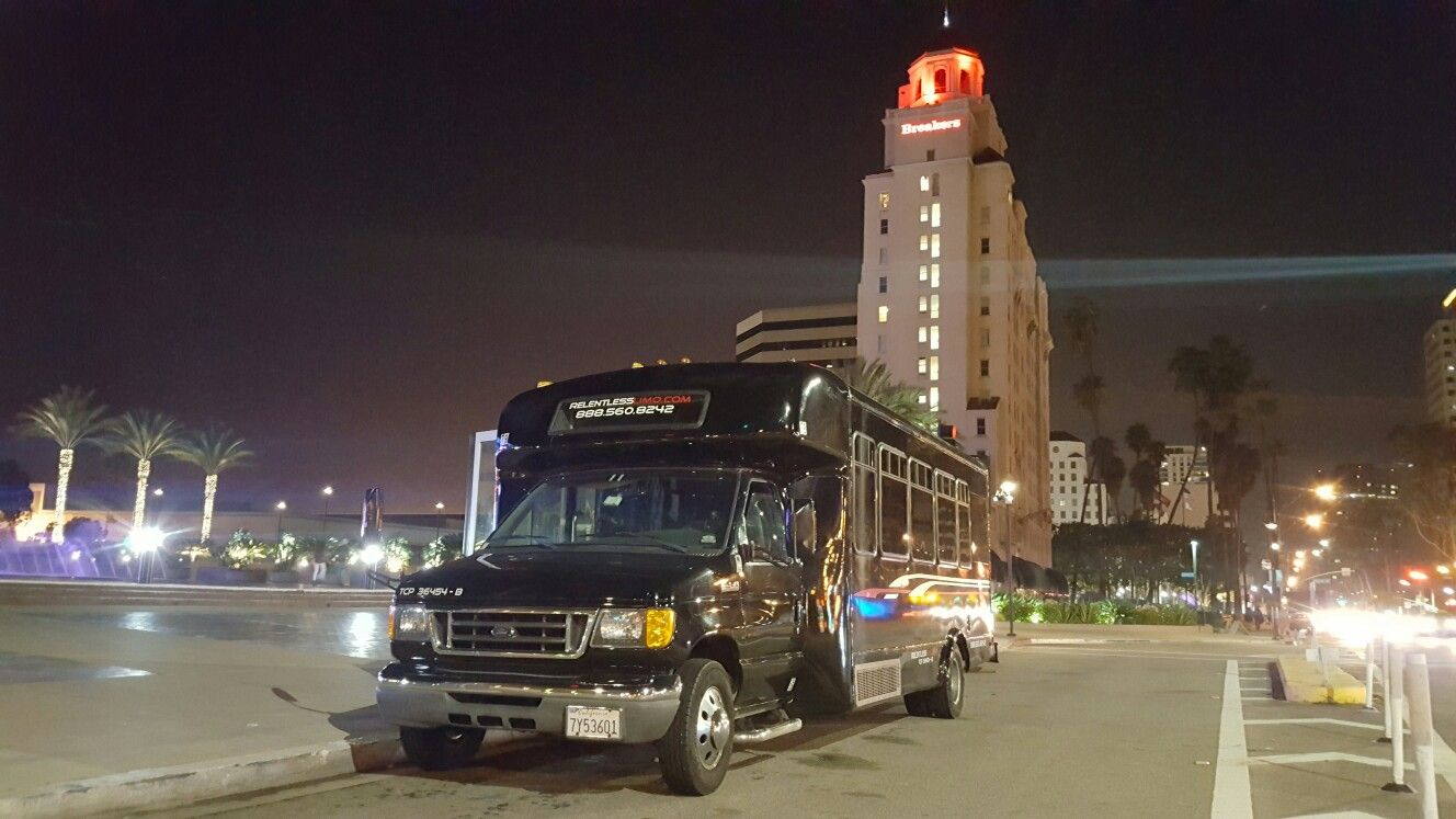 25th birthday celebration party bus service in seal beach