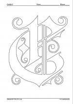 Tegn eller farvelæg et gotisk C