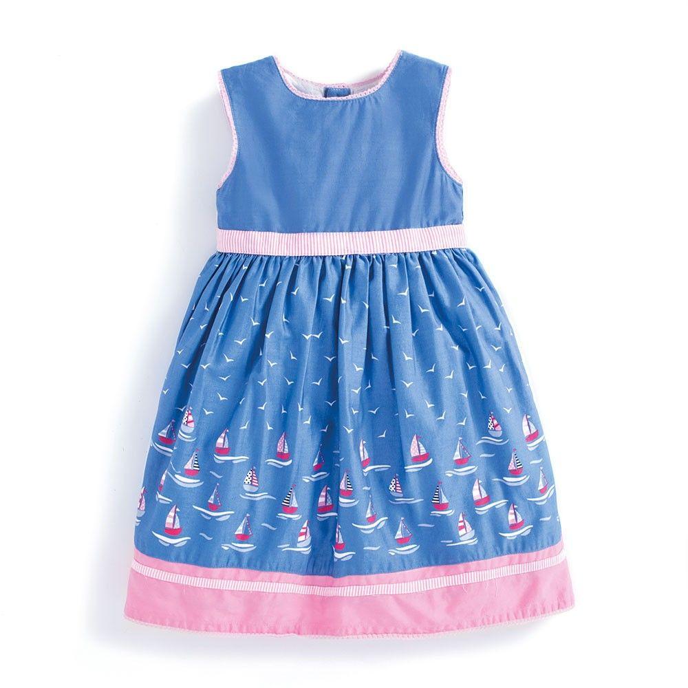 Girls\' Sailboat Party Dress | JoJo Maman Bebe | oooh baby baby ...