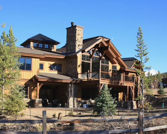 Creative Mountain Home Exterior With Inspiring Ideas: Fascinating Mountain  Homes Exteriors Rustic Architecture Stone Chimney