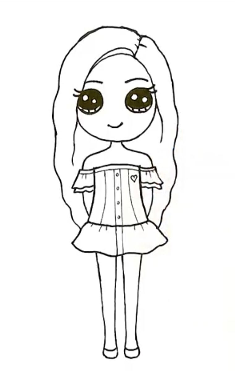 Pin By K De Jonge On Drawing Kawaii Girl Drawings Cute Little Drawings Cute Kawaii Drawings