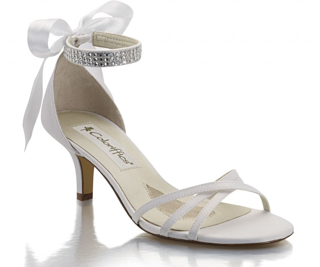 ae9e7caee439 White Coloriffics Cassidy Bridal Shoes