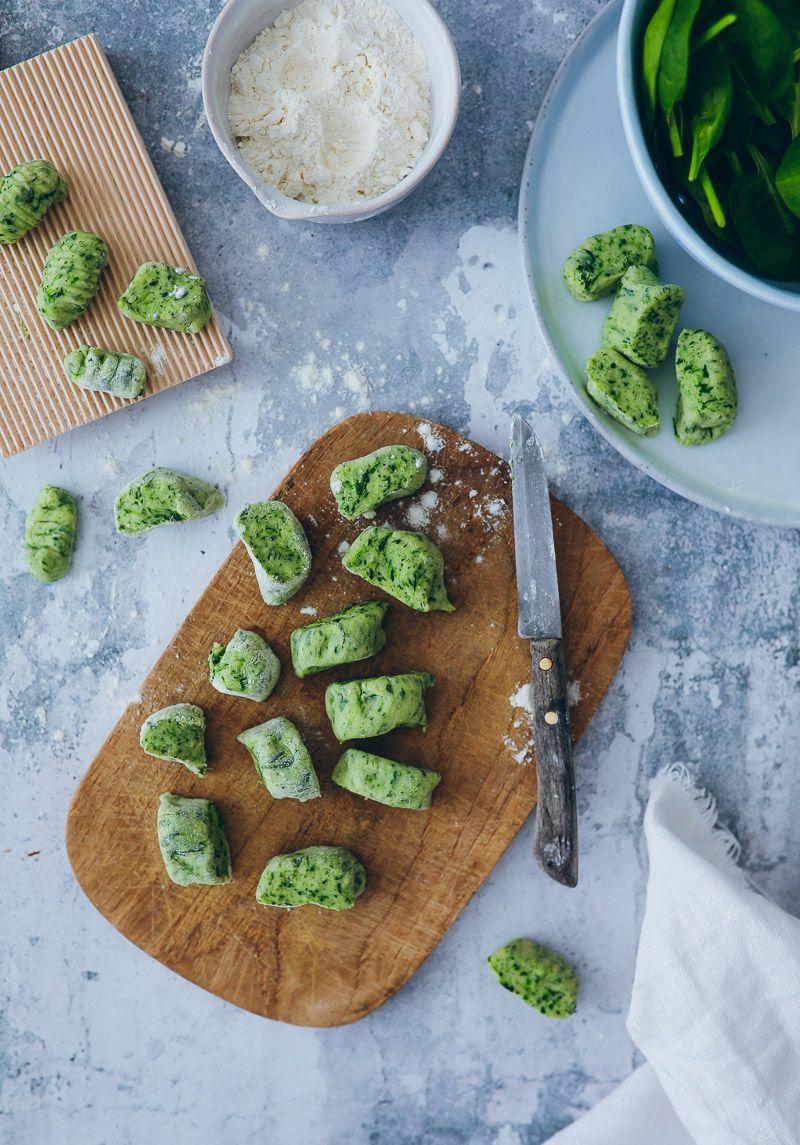 Rezept für Spinat Gnocchi - easy spinach gnocchi #foodrecipies