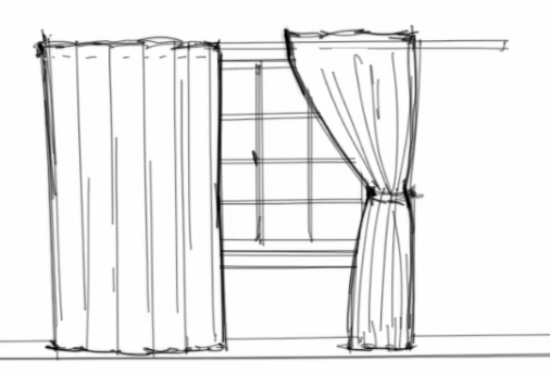 Interior Design Rendering: How To Work With Curtains In Interior Design
