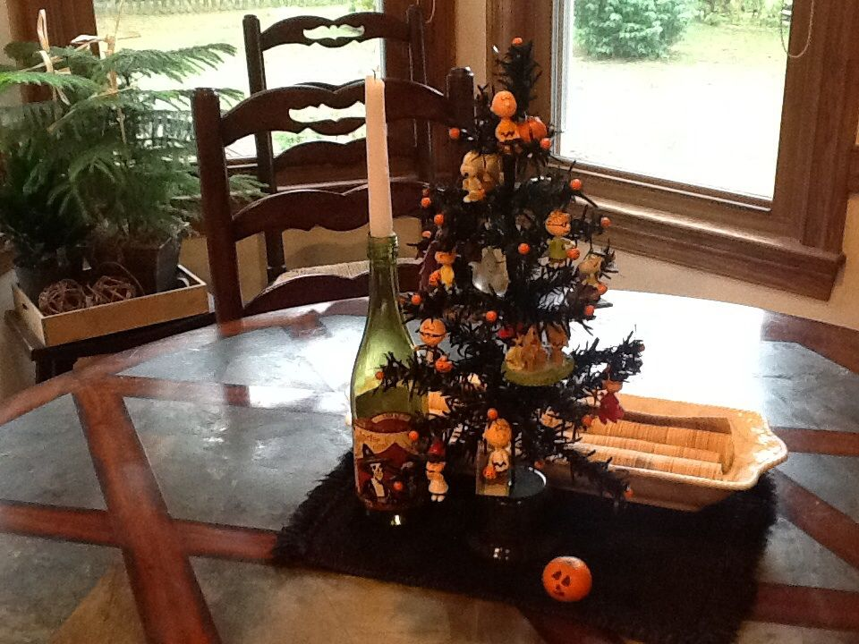 Our Halloween Tree! This is why Hallmark loves us
