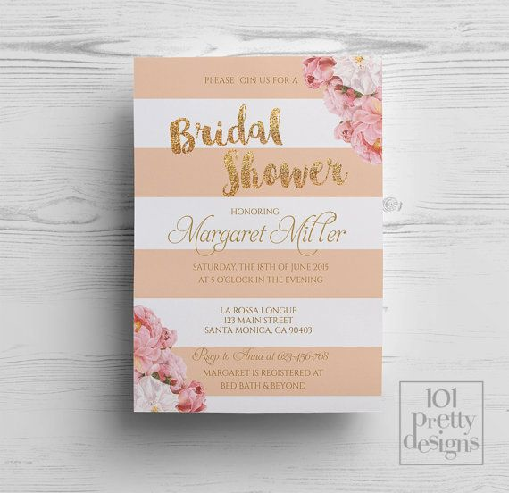 Flowers Bridal shower party invitation template printable bridal - invitation template bridal shower
