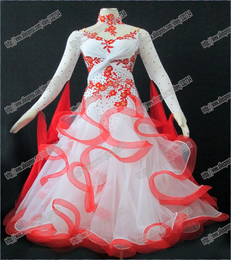 Modern Waltz Tango Ballroom Dance Dress, Smooth Ballroom Dress ...