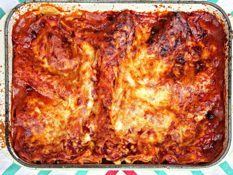 Ratatouille Lasagna (with Eggplant, Gruyère, and Prosciutto.