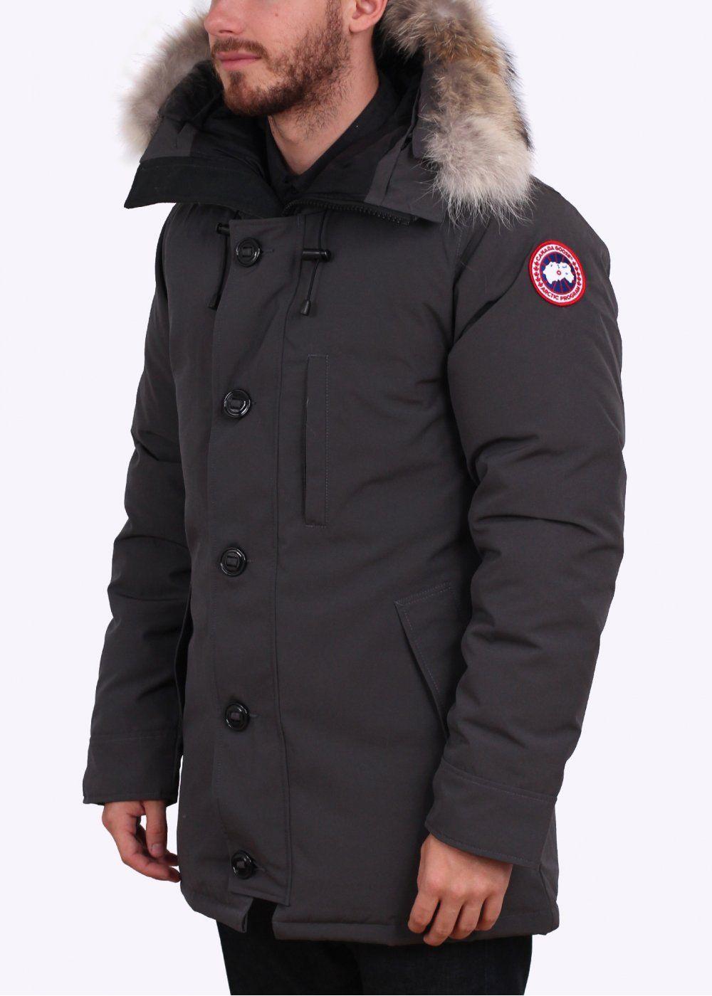 canada goose chateau parka graphite mens jackets