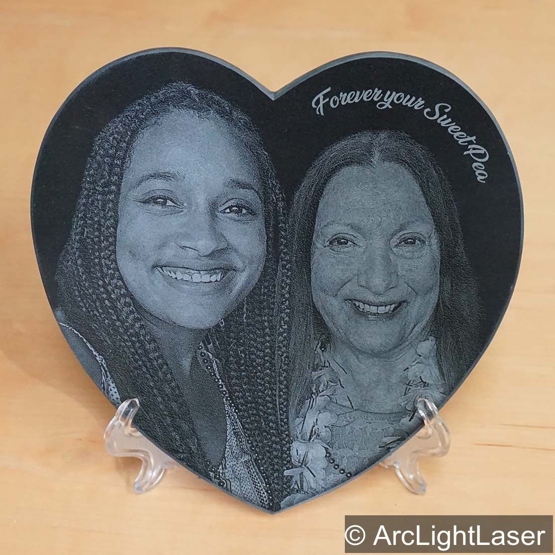 Photo Heart Black Marble Heart Laser Engraved Unique Etsy Unique Valentines Day Gifts Photo Heart Unique Valentines
