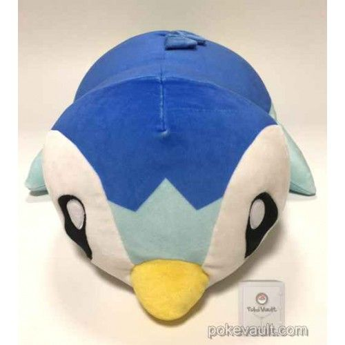 Pokemon Center 2017 Kuttari Campaign #1 Piplup Mochi Mochi Large Size Cushion Plush Toy