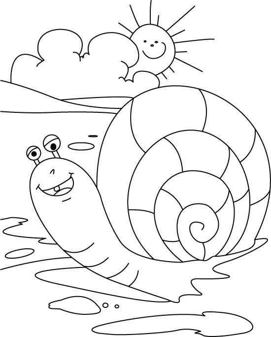 snail-coloring-page-5.jpg (550×684) | huisjesslakken | Pinterest ...
