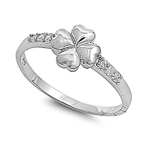pin by lynn b on jewelry pinterest rings jewelry and engagement Pearl Leaf Ring 925 sterling silver 4 leaf clover heart shaped cubic zirconia ring you can find more details by visiting the image link