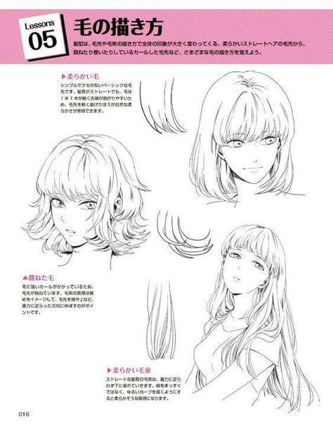 Photo of 55+ ideas hair drawing reference anime art