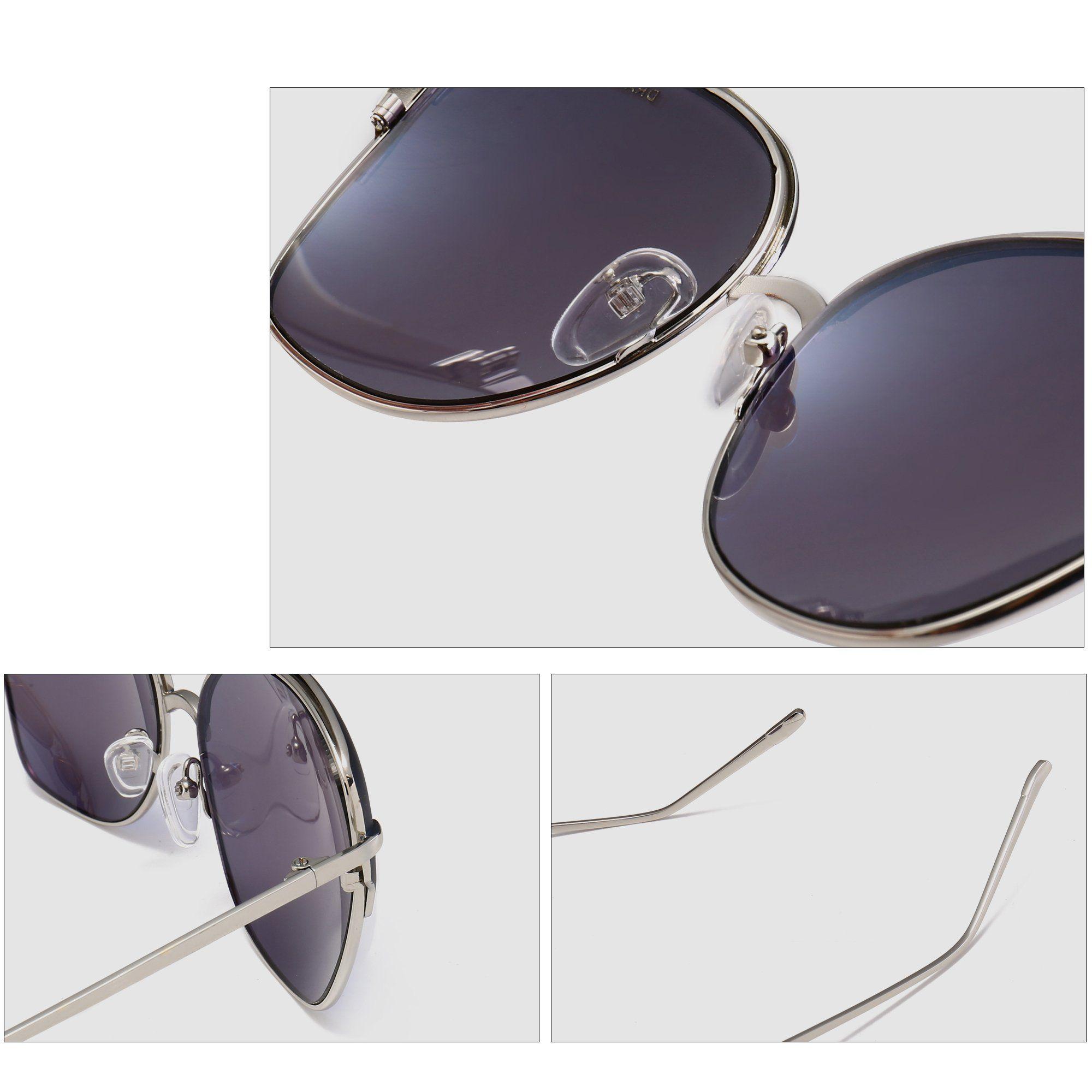 DRAGON CHARM Retro Oversized Cat Eye Sunglasses For Women