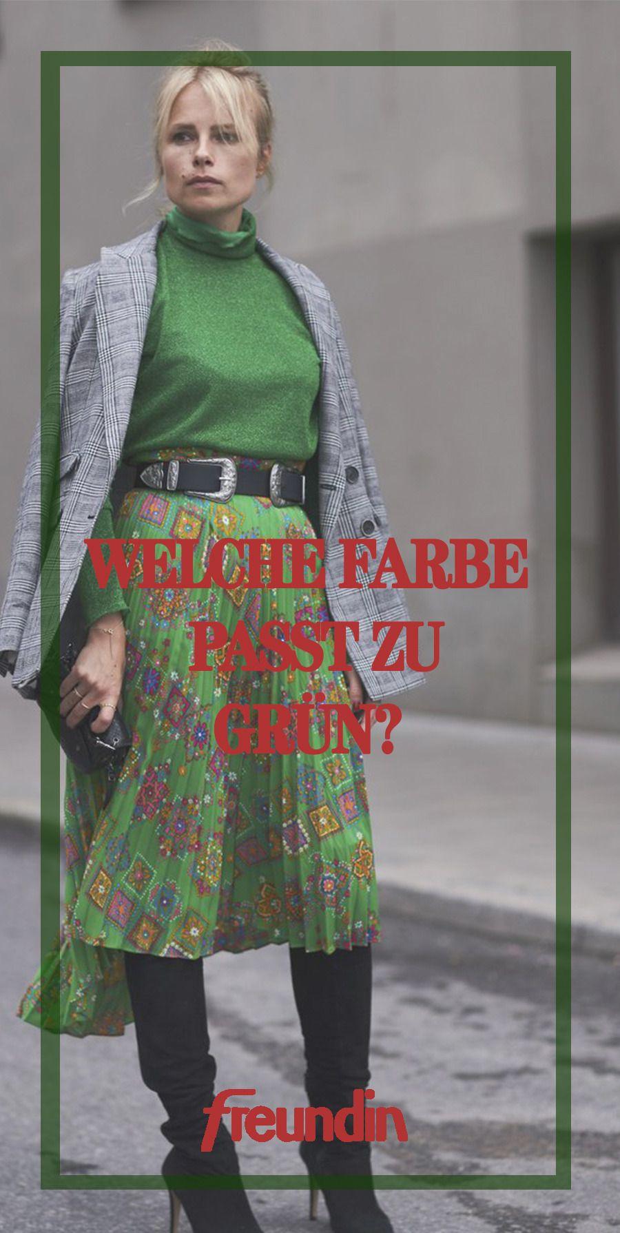 Welche Farbe passt zu Grün? | Kleider kombinieren, Grüner ...