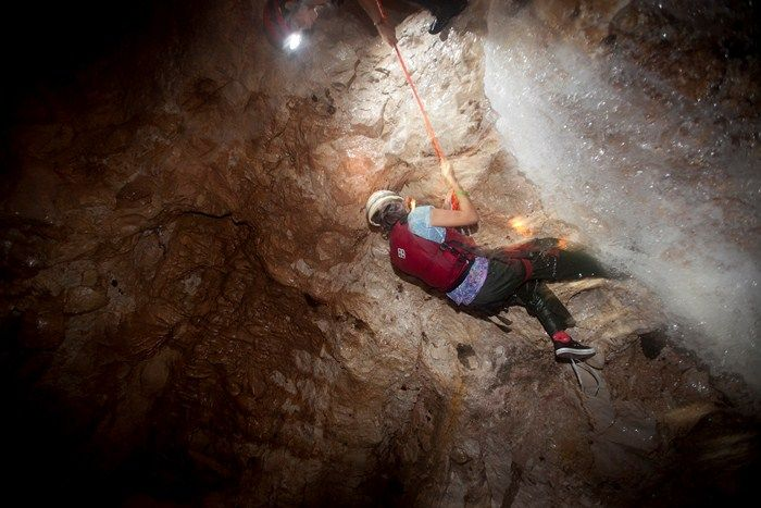 Underground waterfall caving in Belize! Caves Branch Adventure Company